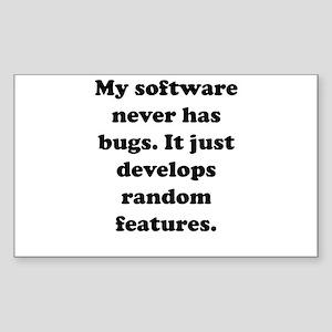 My Software Rectangle Sticker