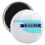 True Blue Oklahoma LIBERAL Magnet