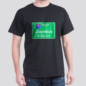 Columbus OH, Interstate 70 West Dark T-Shirt