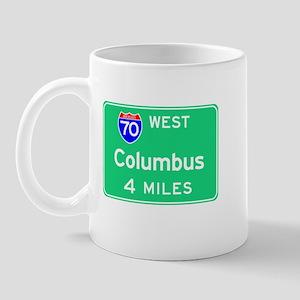 Columbus OH, Interstate 70 West Mug