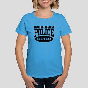 Proud Police Sister Women's Dark T-Shirt