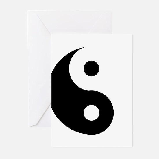 Yin & Yang (Traditional) Greeting Cards