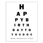 Optometrist Birthday Eye Chart Small Poster