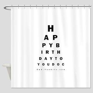 Optometrist Birthday Eye Chart Shower Curtain