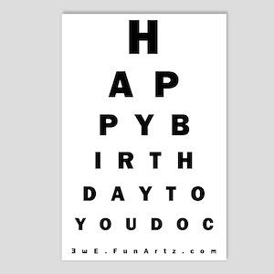 Optometrist Birthday Eye Postcards (Package of 8)