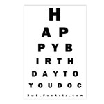 Optometrist Birthday Eye Postcards (Package of 8)