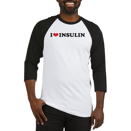 I Love (Heart) Insulin Baseball Jersey