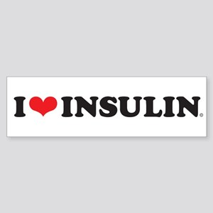 I Love (Heart) Insulin Bumper Sticker