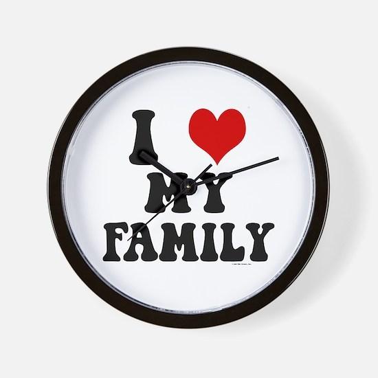 I Love My Family - I Heart My Family Wall Clock