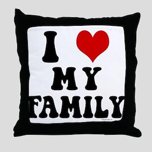 I Love My Family - I Heart My Family Throw Pillow