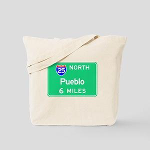 Pueblo CO, Interstate 25 North Tote Bag
