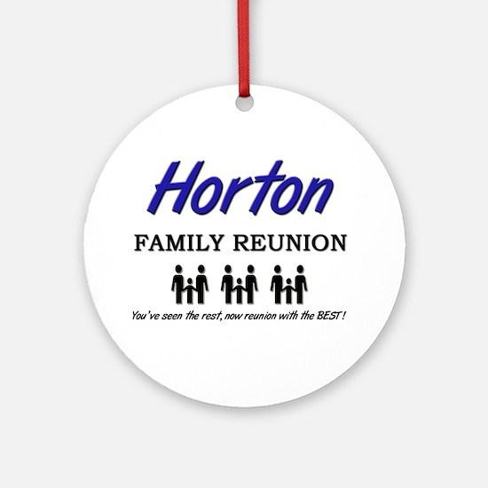 Horton Family Reunion Ornament (Round)