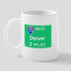 Denver CO, Interstate 70 West Mug