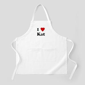 I Love Kat BBQ Apron