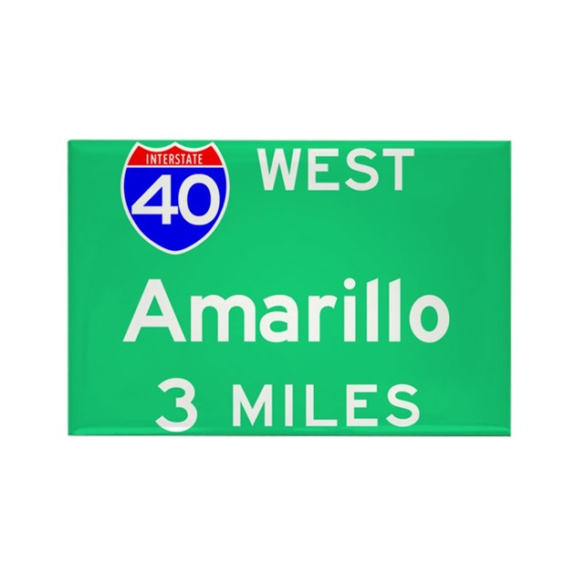 home decor stores in amarillo tx amarillo tx interstate 40 west rectangle magnet by 13301