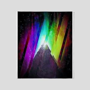The Cosmic Pyramid Throw Blanket