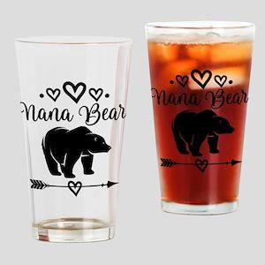Nana Bear Grandma Gift Drinking Glass
