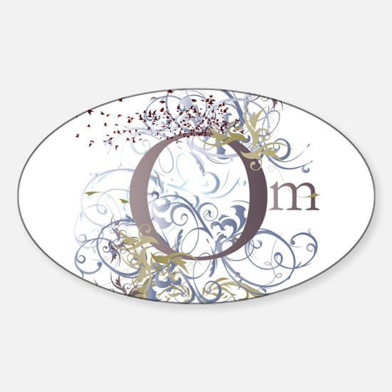 Om Oval Decal