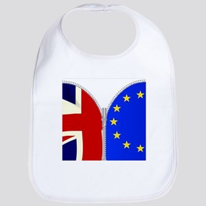Brexit UK EU Split Zipper Baby Bib