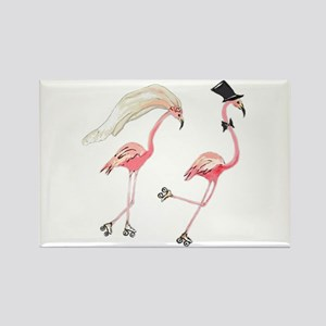 Bride and Groom Flamingos Magnets