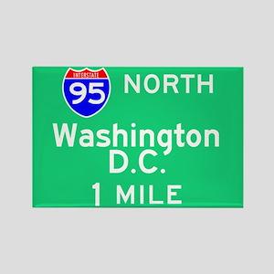 Washington D.C. Interstate 95 North Rectangle Magn