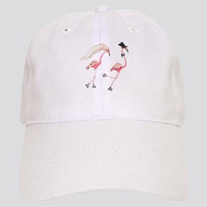 Bride and Groom Flamingos Baseball Cap