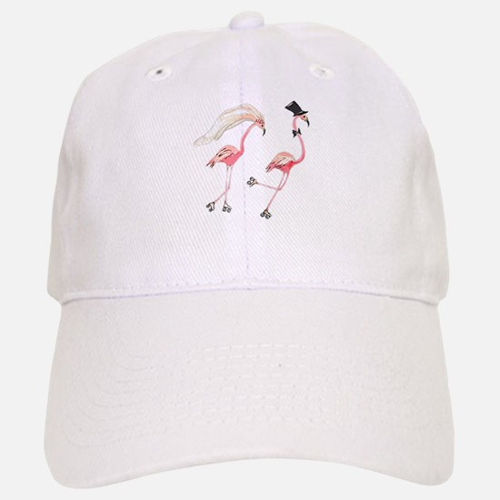Bride and Groom Flamingos Baseball Baseball Baseball Cap