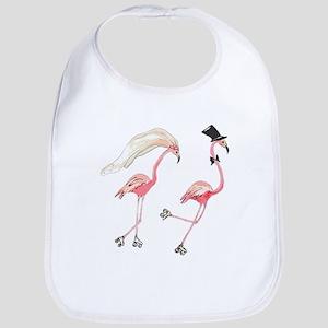 Bride and Groom Flamingos Bib
