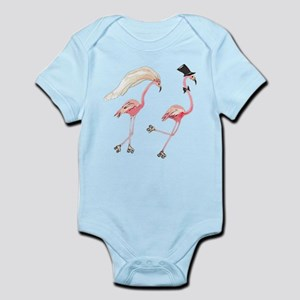 Bride and Groom Flamingos Body Suit