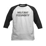 MILITANT FECUNDITY Kids Baseball Jersey