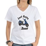 Just Gotta Scoot Zuma Women's V-Neck T-Shirt