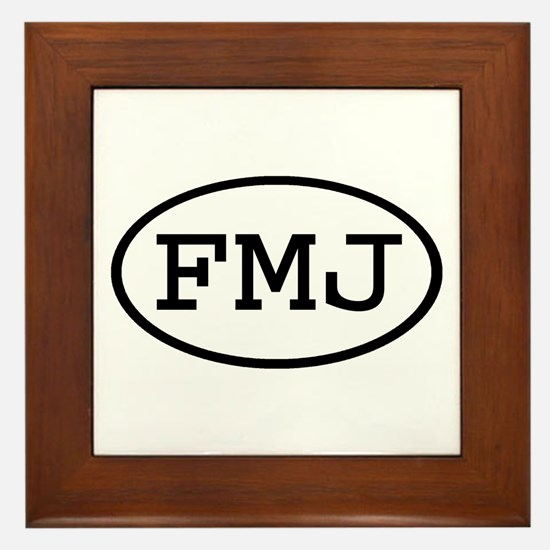 FMJ Oval Framed Tile