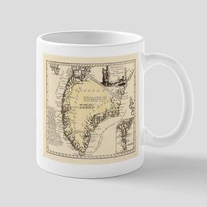 Vintage Map of Greenland (1791) Mugs