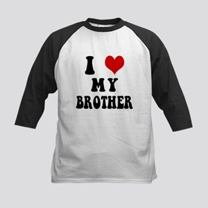 I Love My Brother - I Heart My Brother Kids Baseba