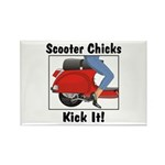 Chicks Kick It Rectangle Magnet (10 pack)
