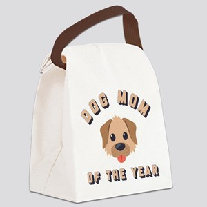 Emoji Dog Mom Canvas Lunch Bag