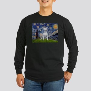 Starry Night/Bull Terrier Long Sleeve Dark T-Shirt