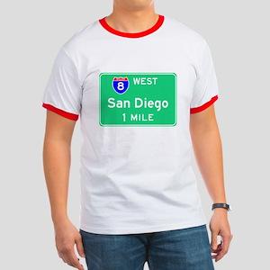 San Diego CA, Interstate 8 West Ringer T