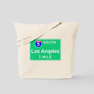 Los Angeles CA, Interstate 5 South Tote Bag