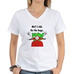 Scooter Frog Women's V-Neck T-Shirt