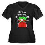Scooter Frog Women's Plus Size V-Neck Dark T-Shirt