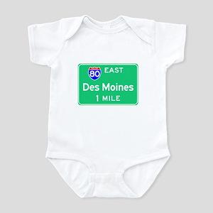 Des Moines IA, Interstate 80 East Infant Bodysuit