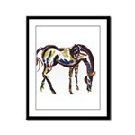 Tribal Horse Framed Panel Print
