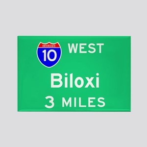 Biloxi MS, Interstate 10 West Rectangle Magnet