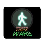 Traffic Light Wars Green Man mouse pad