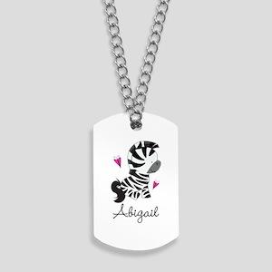 Zebra Zoo Animal Personalized Dog Tags