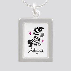 Zebra Zoo Animal Persona Silver Portrait Necklace