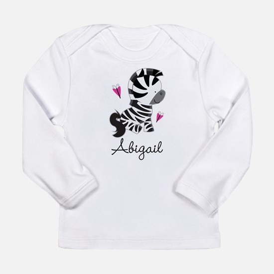 Zebra Animal Personaliz Long Sleeve Infant T-Shirt