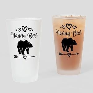 Nanny Bear Grandma Gift Drinking Glass