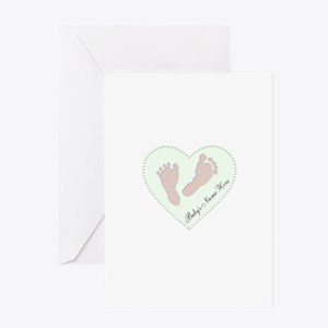 Baby Girl's Name in Heart Greeting Card